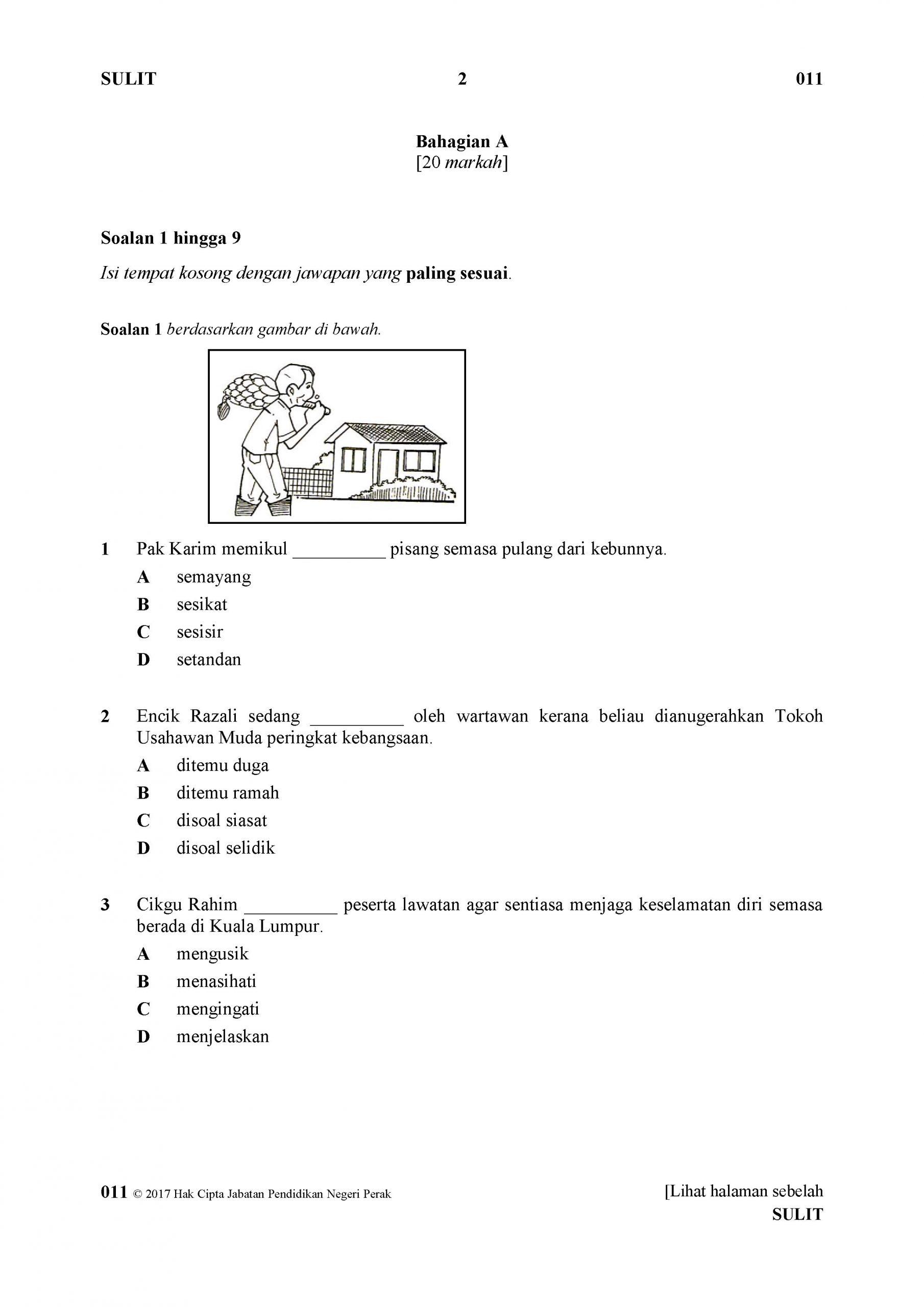 Latih Tubi Upsr Bahasa Melayu Tcer My