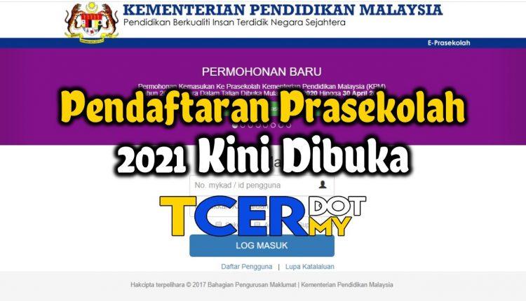 Pendaftaran Prasekolah 2021 Tcer My
