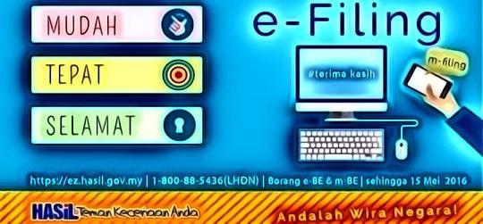 Cara Isi Borang E-Filling Online Cukai Pendapatan - TCER.MY