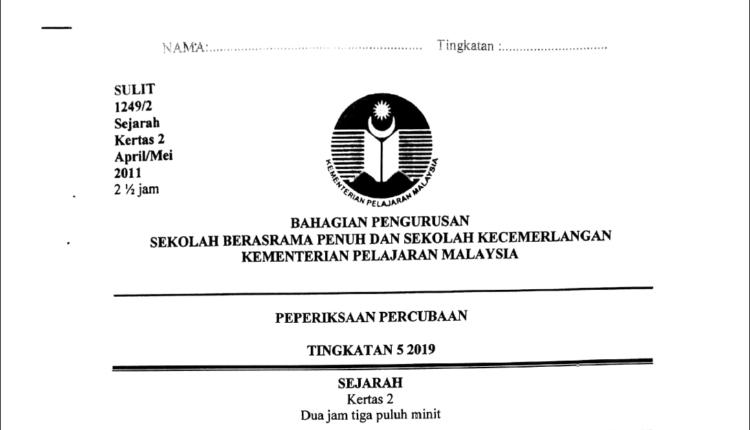 Soalan Percubaan Sejarah Spm 2019 Negeri Pahang Bersama Jawapan Tcer My